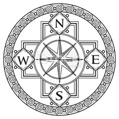 236x236 Nautical Compass Pattern How To Draw A Compass, Compass Rose