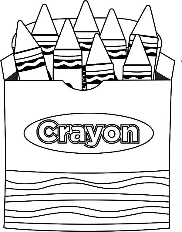 600x764 Coloring Pages Appealing Crayon Coloring Pages In The Box Crayon