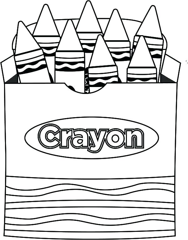 600x764 Crayons Coloring Pages Crayon Coloring Pages Crayon Box Colouring