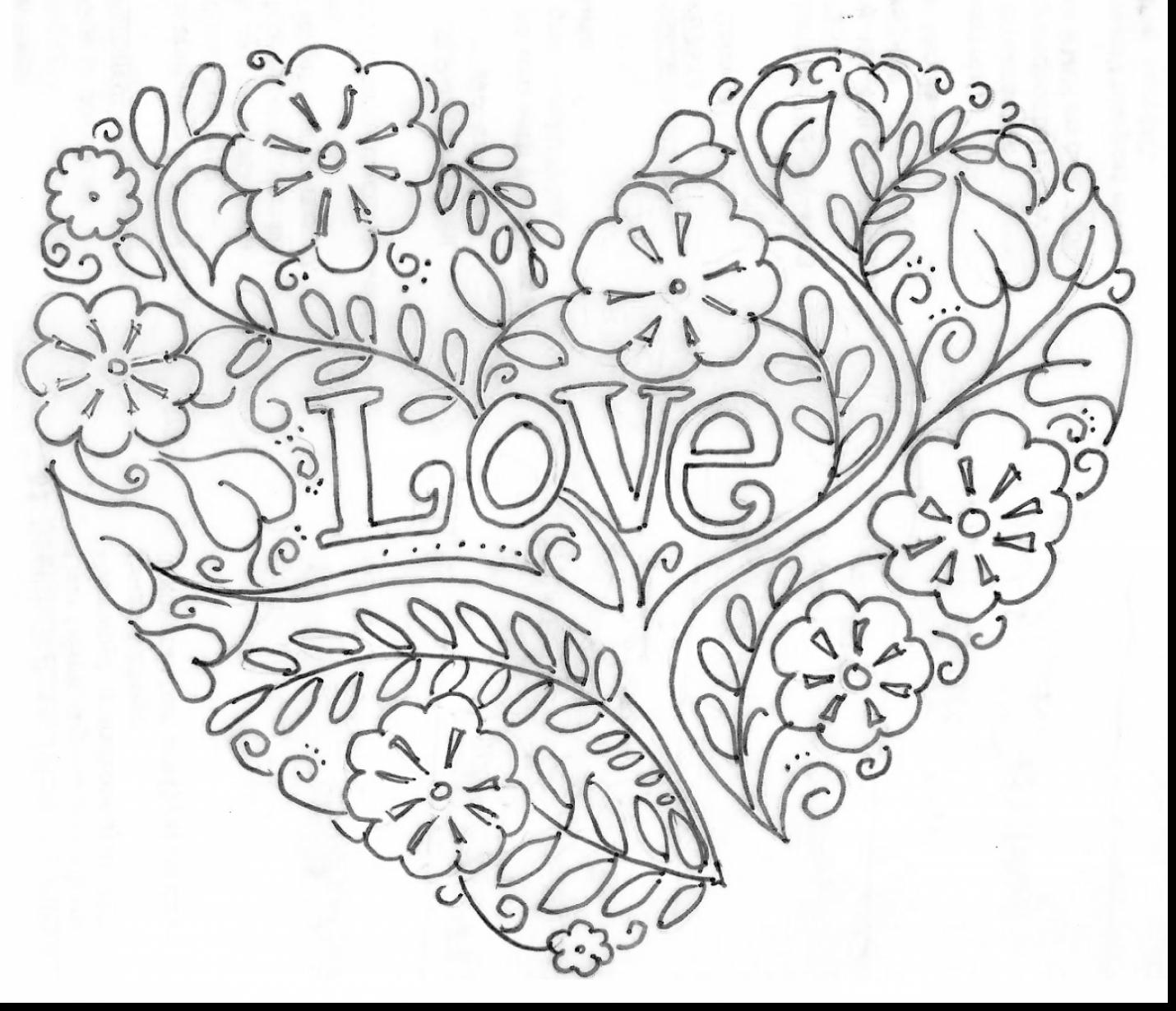 1430x1229 Coloring Pages For Adults Hearts Tiny Print Draw Printable