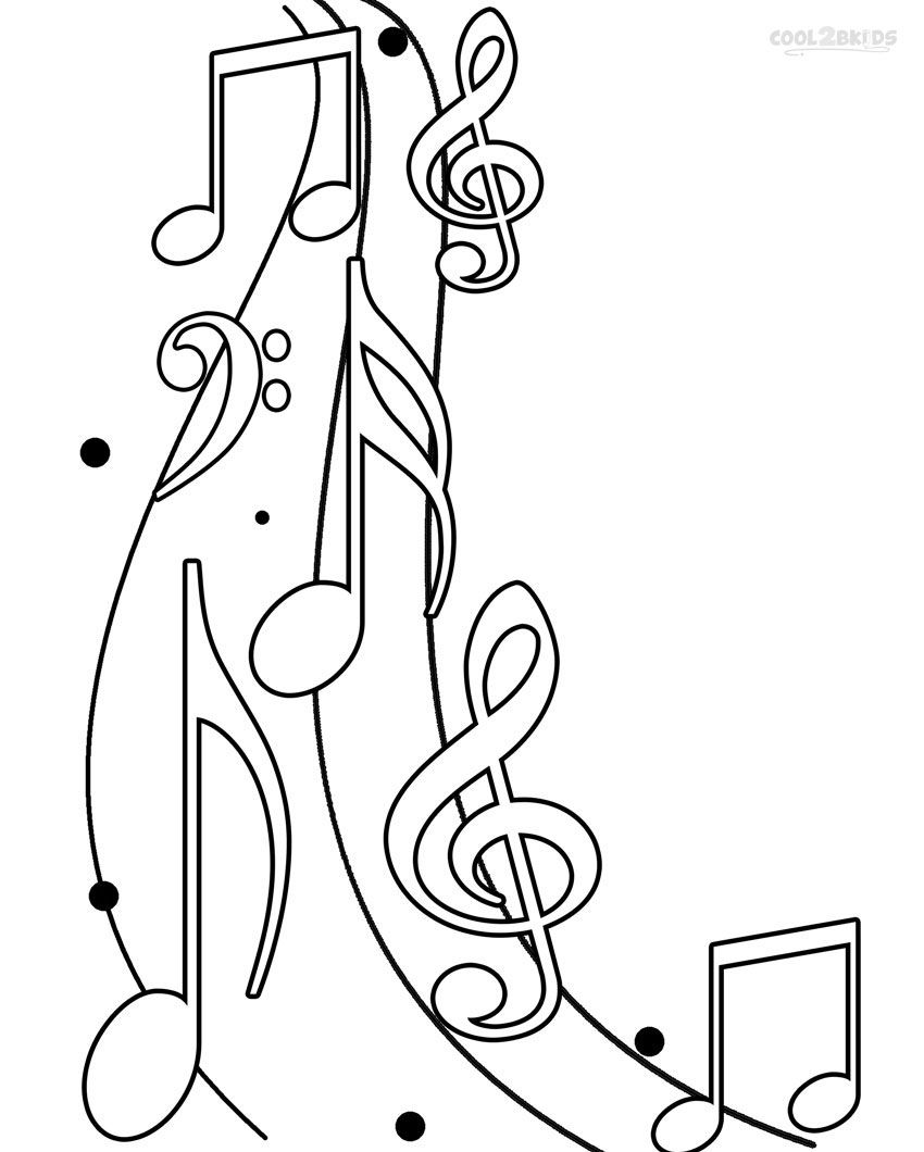 850x1060 Soar Music Notes Coloring Pages Note Page Sheet