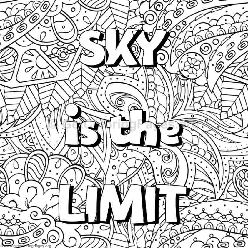 843x843 Inspirational Word Coloring Pages