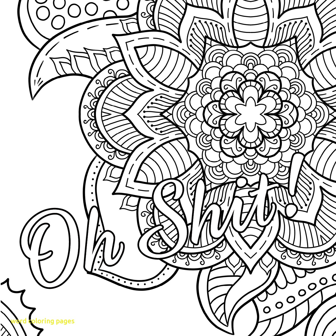 1275x1275 Word Coloring Pages With Party Word Coloring Pages Grown Ups