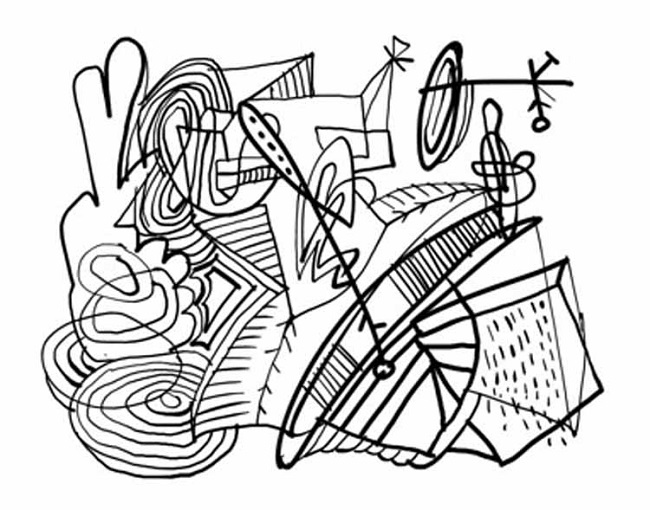 650x510 Abstract Coloring Pages With Words Coloring Pages