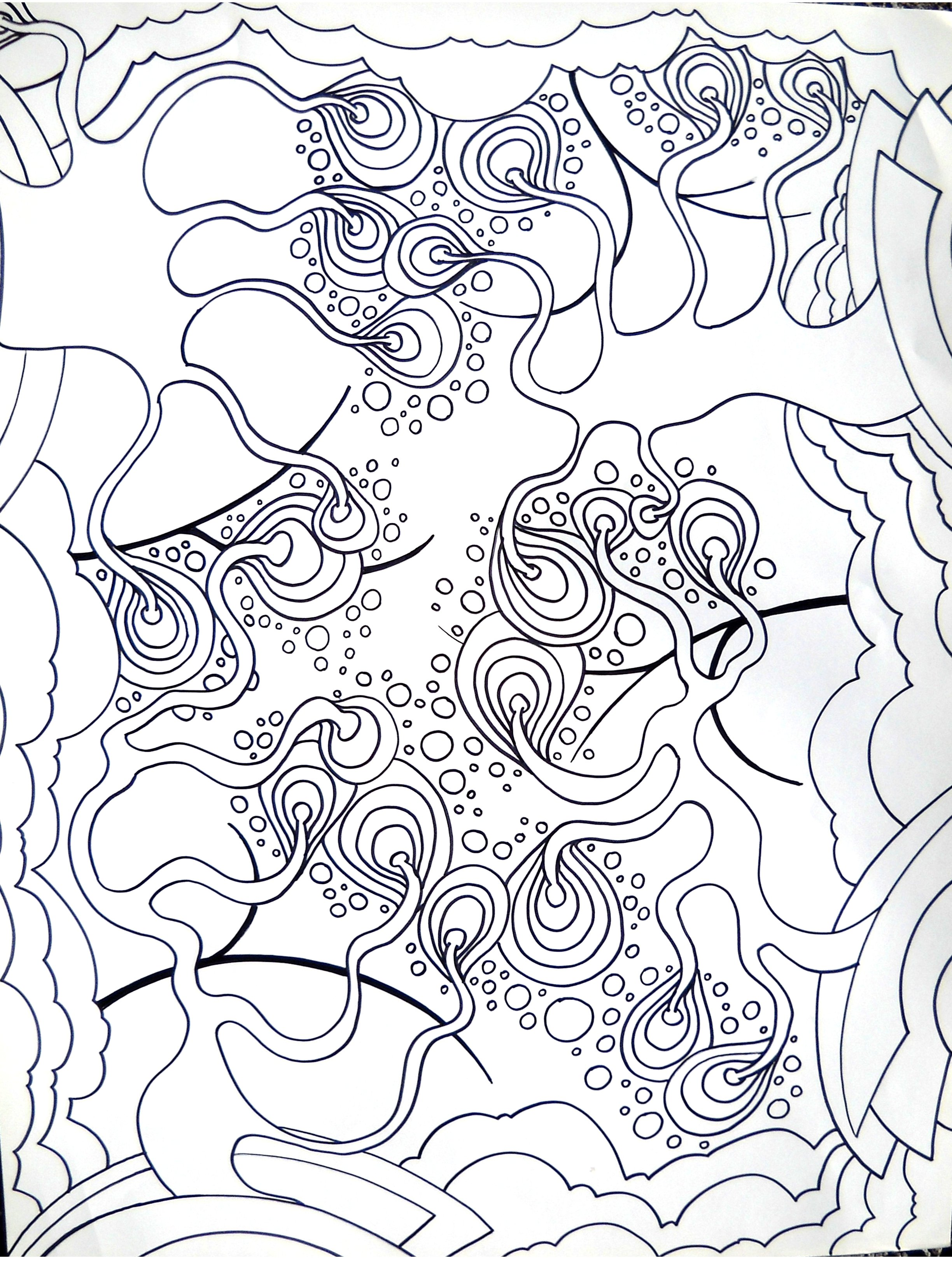 2448x3264 Line Art Words With No Names