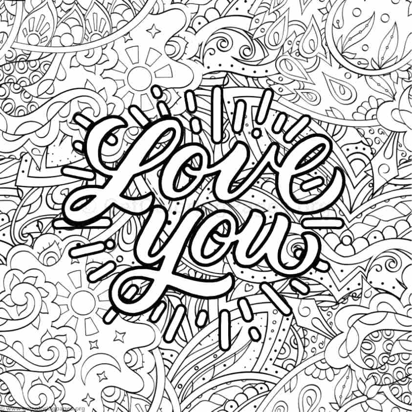 843x843 Coloring Pages With Words Inspirational Word Coloring Pages Swear