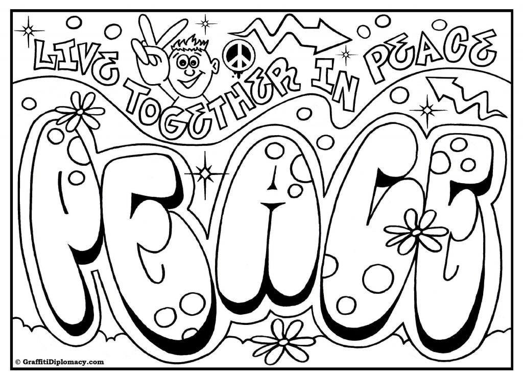 1024x745 Coloring Pages With Words Printable Best Of Omg Another Graffiti