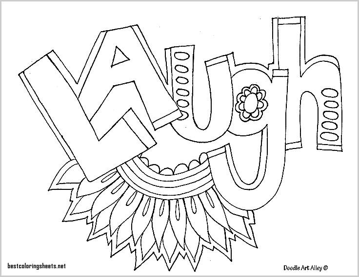 736x569 Coloring Sheets With Words Awesome Laugh Adult Coloring Pages Art