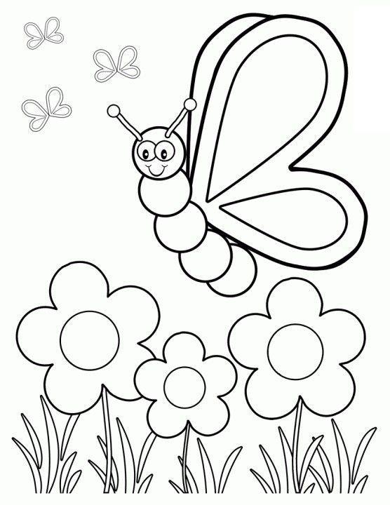 556x720 Spring Coloring Sheets Preschool Printable Books