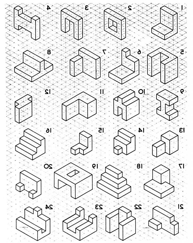 815x1024 Isometric Drawing Worksheet