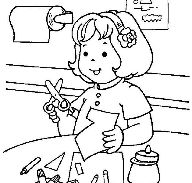 630x600 Coloring Worksheets Kindergarten Kids Coloring Page