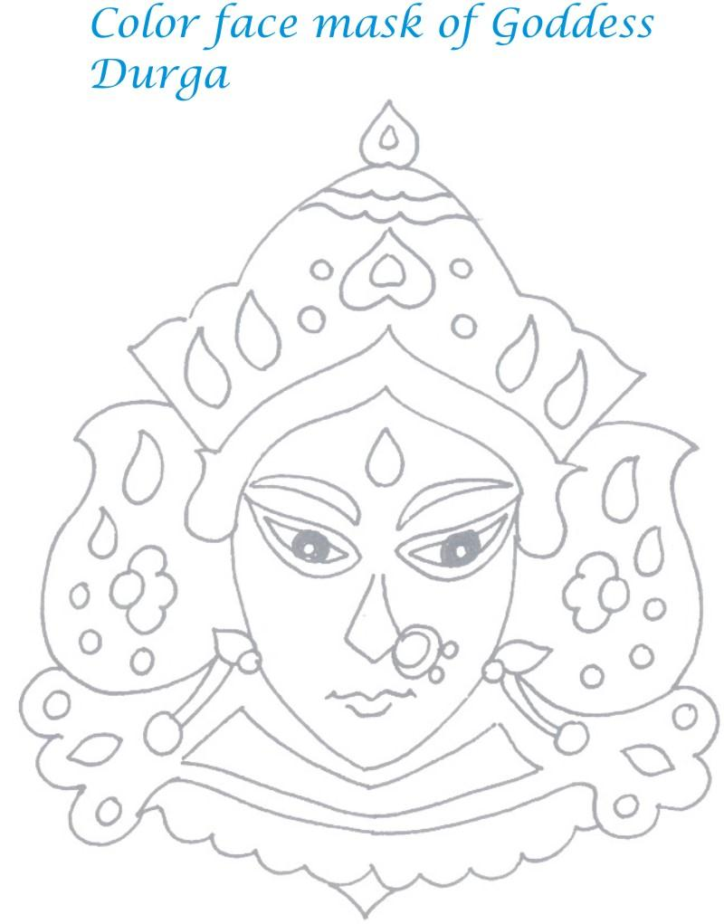 800x1021 Navaratri Coloring Pages