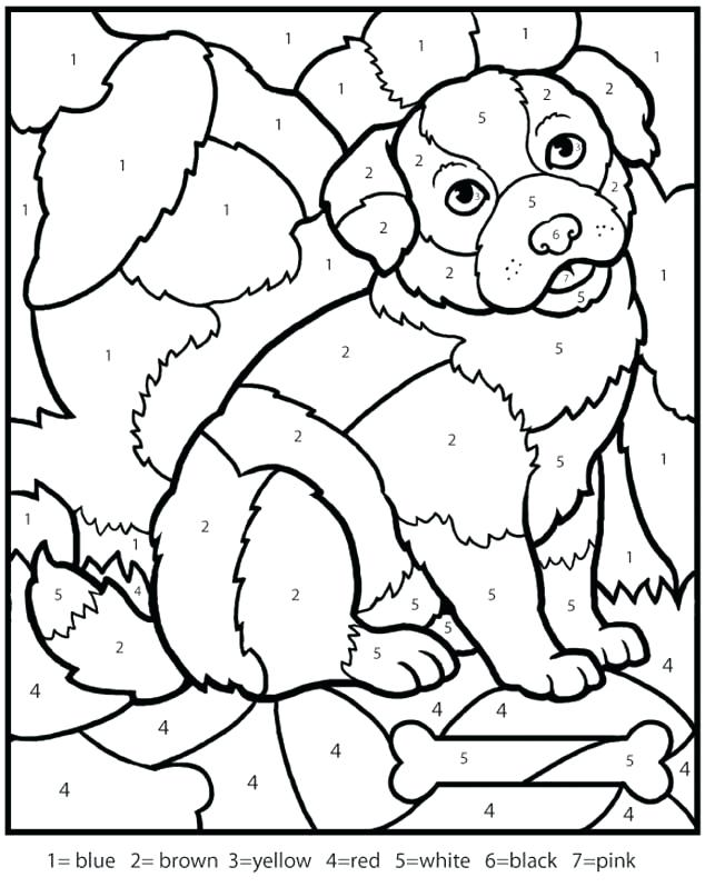 634x798 Printable Number Coloring Pages Color By Numbers Worksheets