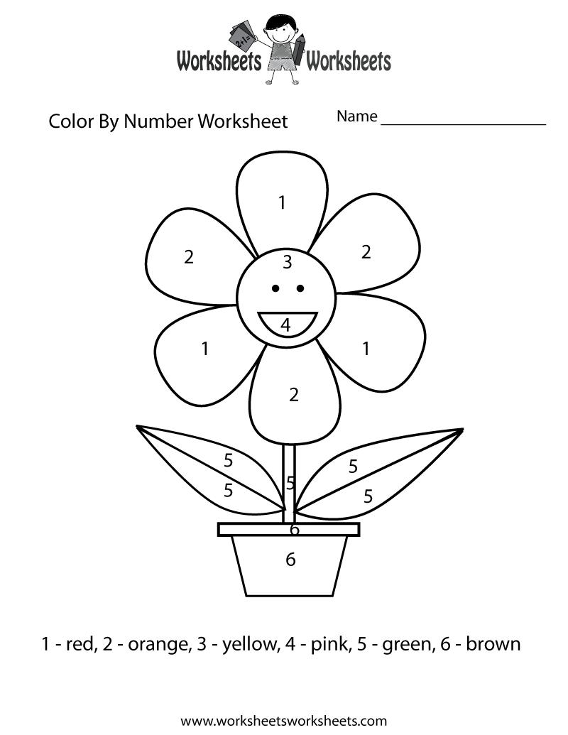 800x1035 Easy Color By Number Worksheet Printable Kiddo Stuff