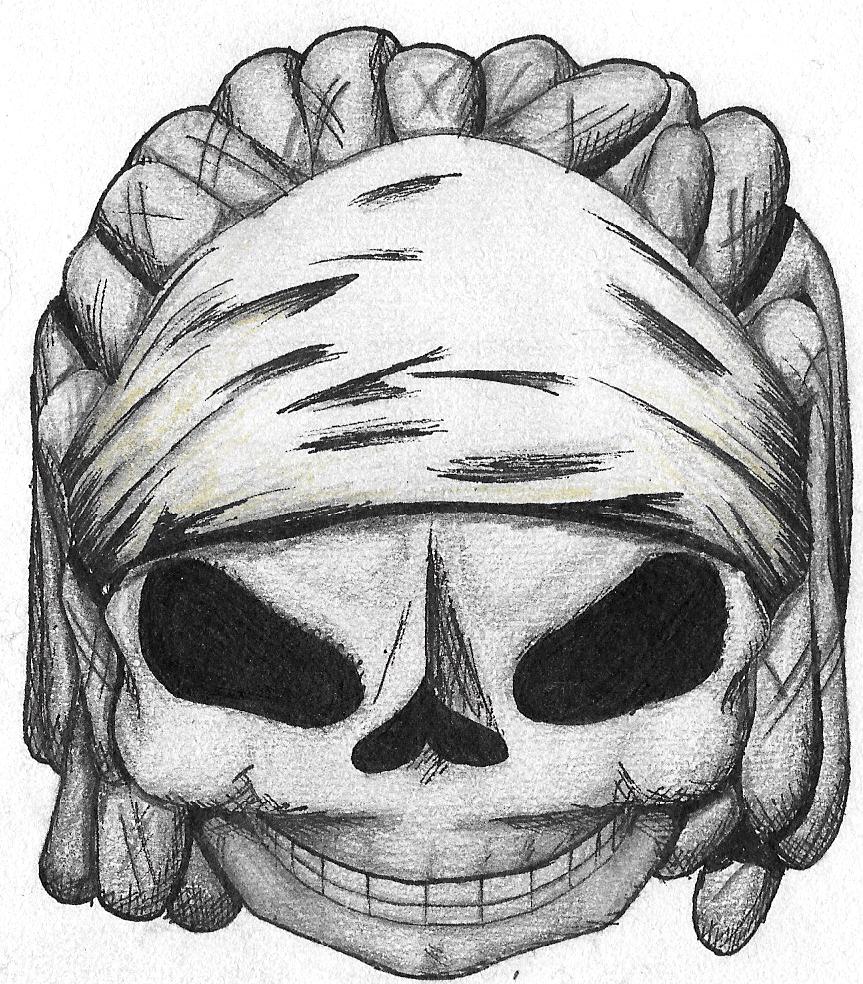 863x984 Dreadlock Skull By Rumbleberg