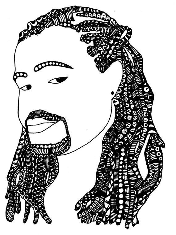 570x759 Items Similar To Luther Original Afrocentric Artwork Man