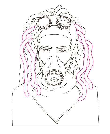 468x571 Create A Steam Punk Inspired Portrait In Illustrator Cs6