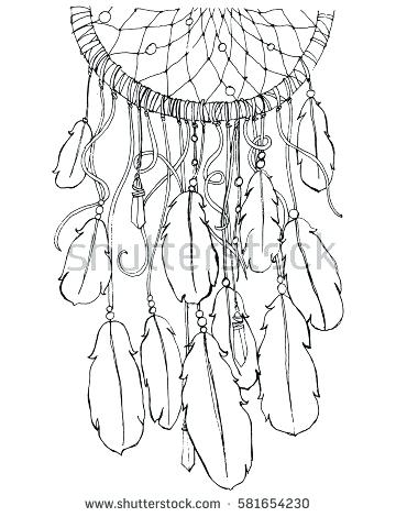 360x470 Dream Catcher Coloring Pages 96 Packed With Dream Catcher Coloring