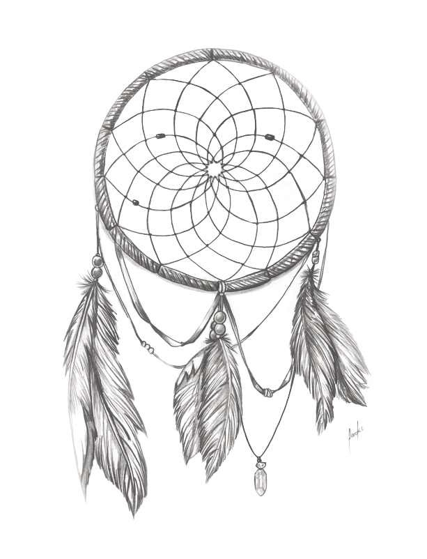613x802 Gallery Dream Catcher Pencil Drawing,