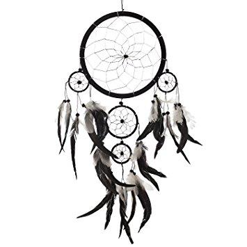 355x355 Dream Catcher ~ Handmade Traditional Black, White
