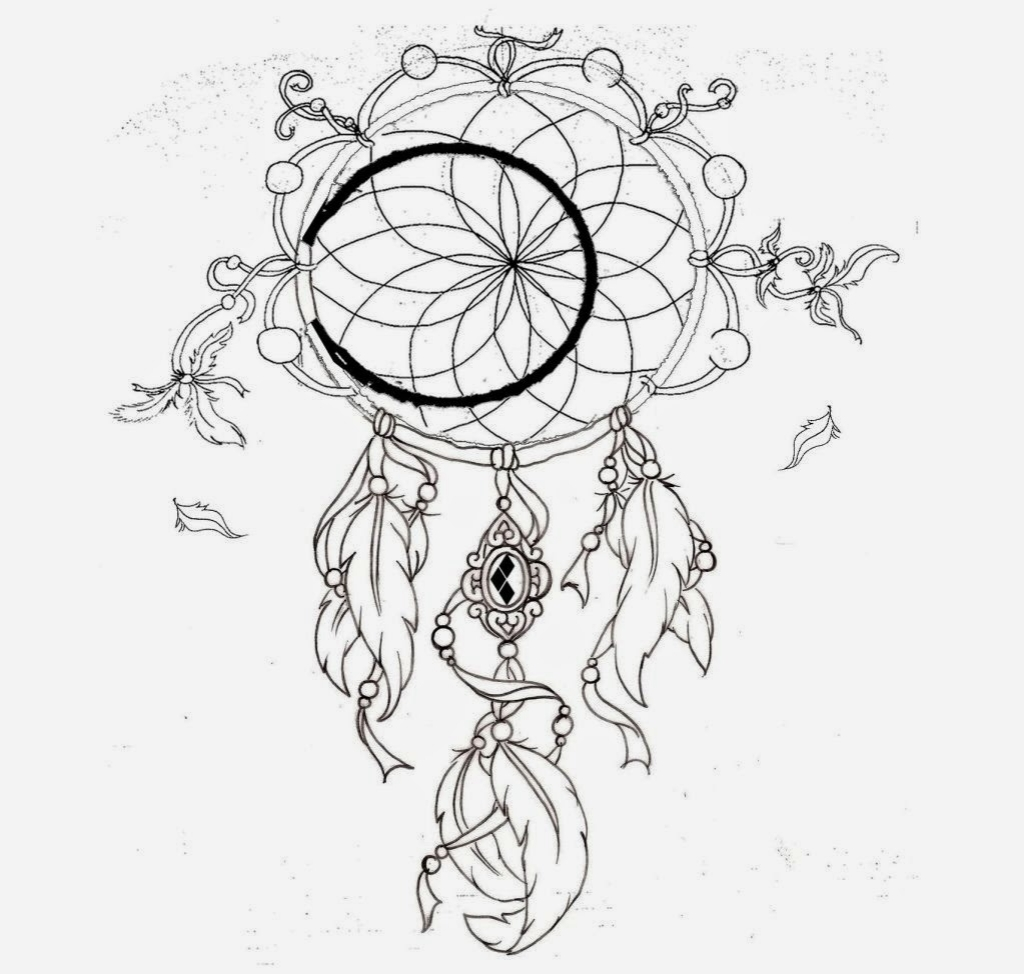 1024x974 Dreamcatcher Flower Tattoo Wolves N Dream Catcher Tattoo Fresh