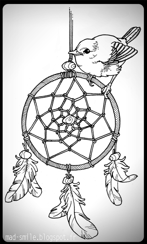 Dream catcher tattoo drawing at free for for Dreamcatcher tattoo template
