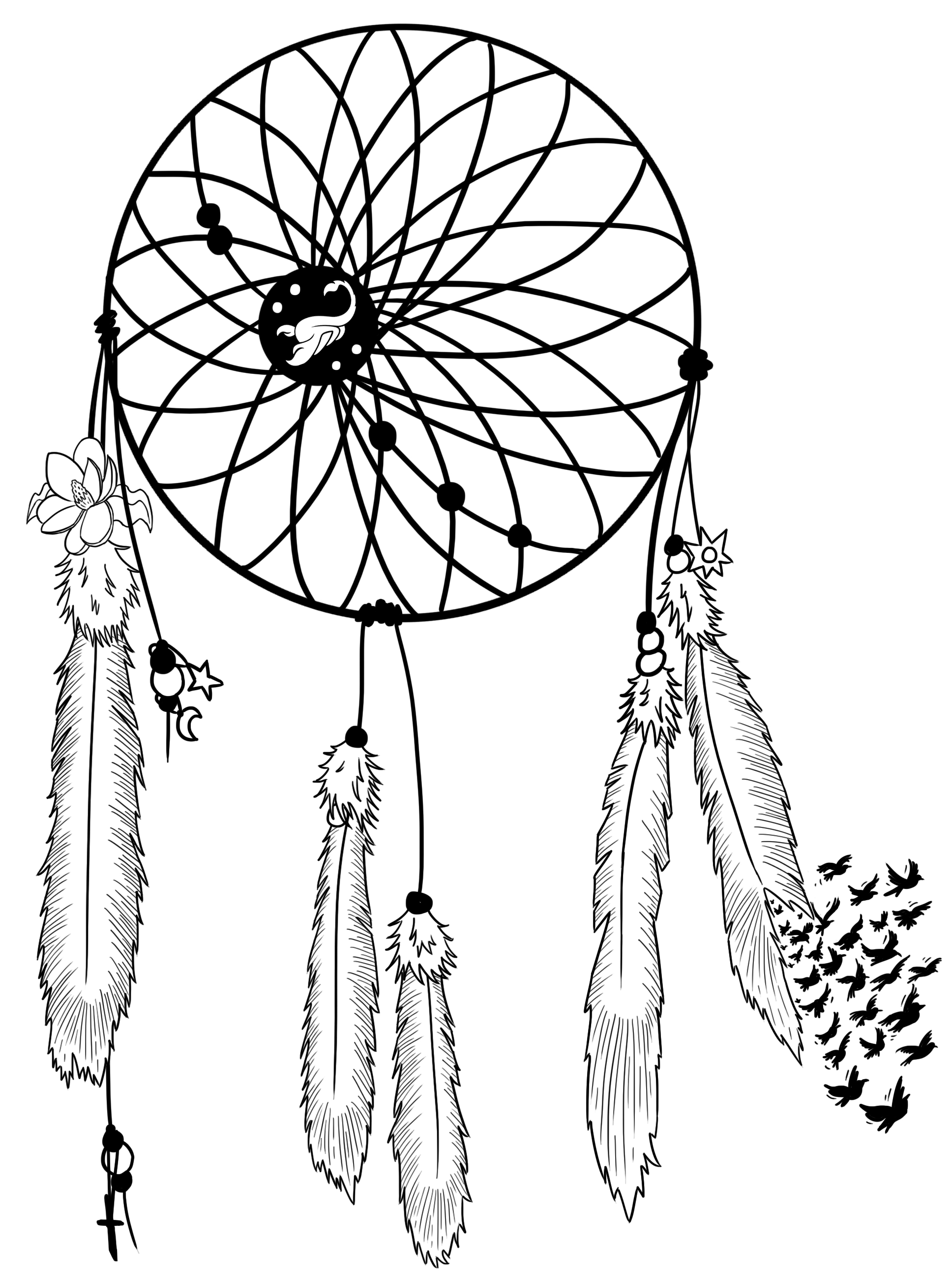 1936x2592 Dream Catcher Tattoo Design By Rydelio