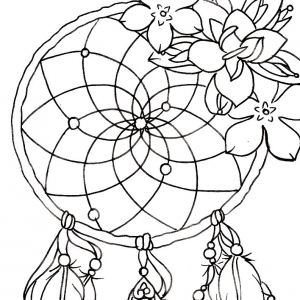 300x300 Dream Catcher Design Coloring Pages Love Dream Catchers Coloring