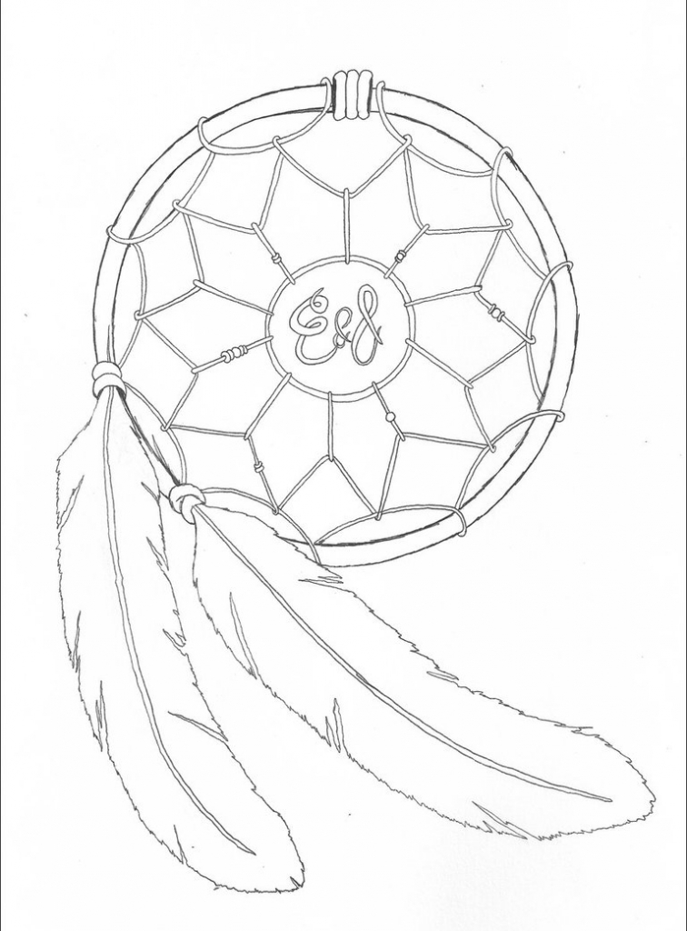 756x1024 Dream Catcher Drawings 12 Pics Of Simple Dream Catcher Coloring