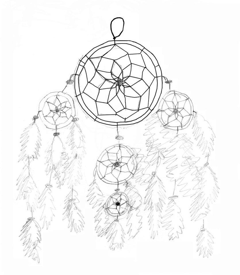 835x956 Dream Catcher Pencil Drawing By Xxxsilver Wolfxxx