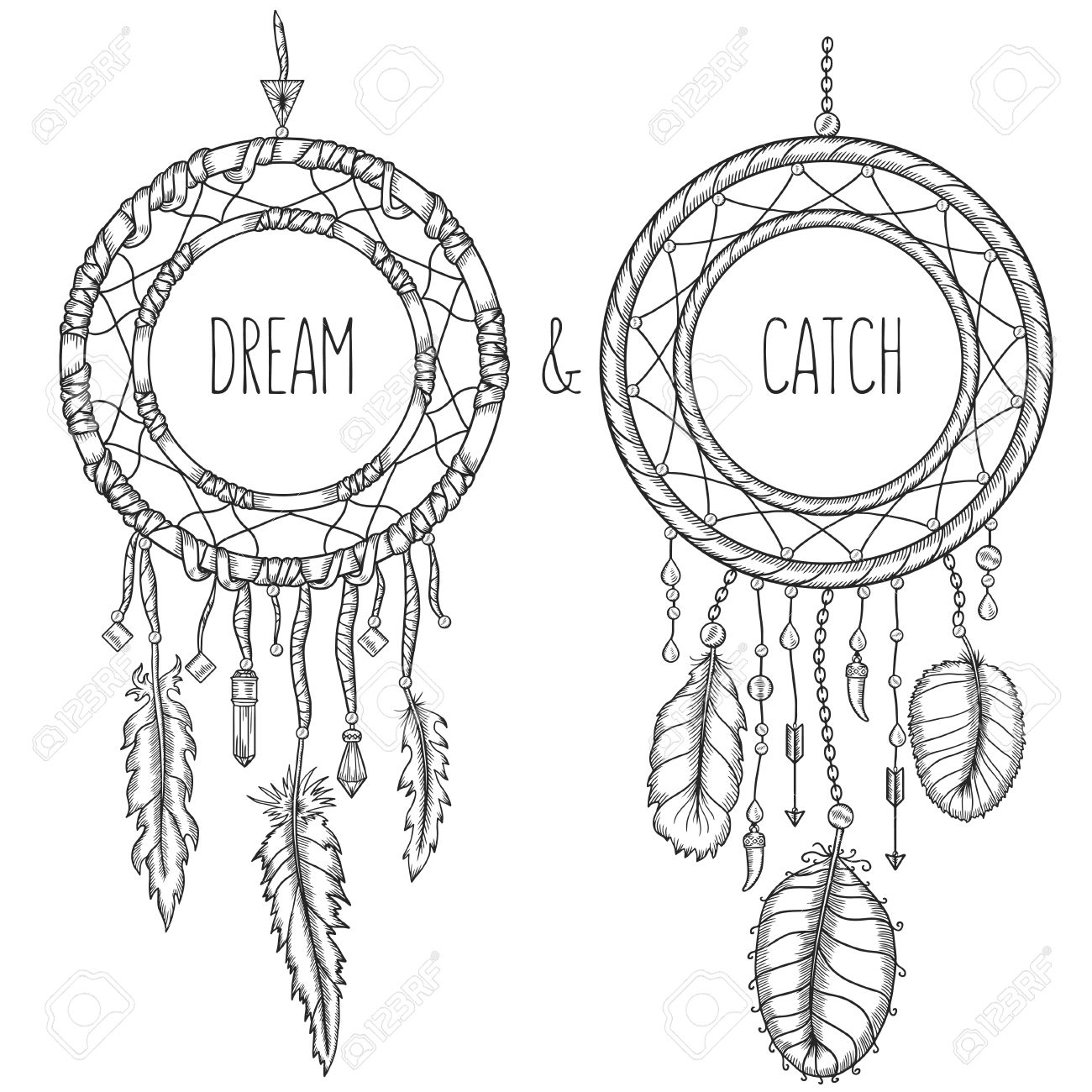 1300x1300 Dream Catchers. Native American Traditional Symbol. T Shirt, Bag