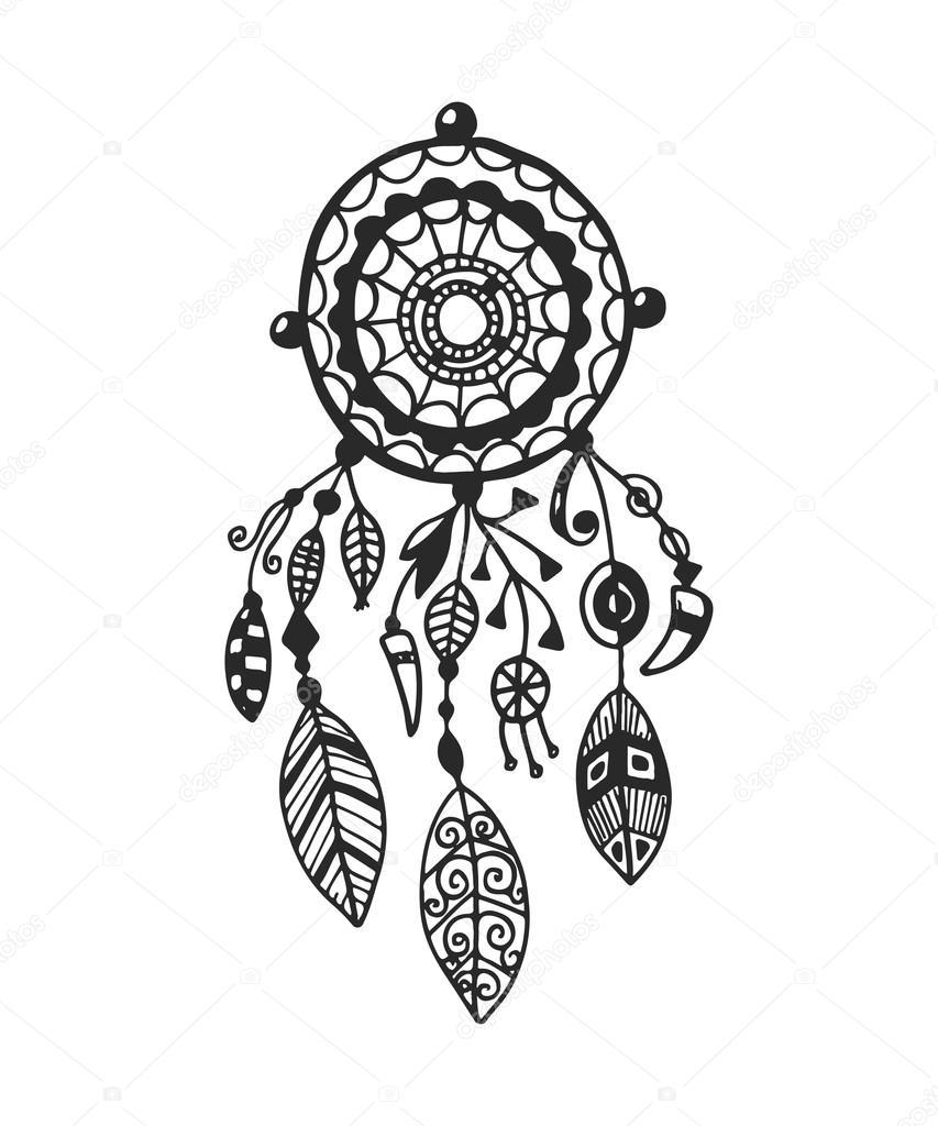 853x1024 Tribal Vector Dream Catcher Stock Vector Qilli