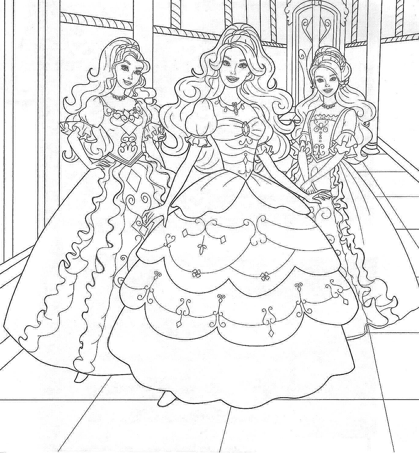 1380x1494 Barbie In The Dream House Coloring Page Pages For Girls