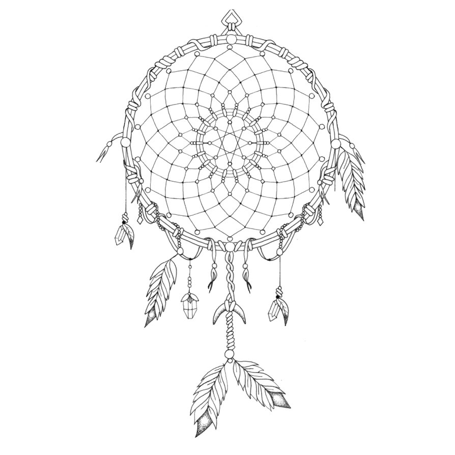 894x894 Dream Catcher Mandala By Madeforcolor