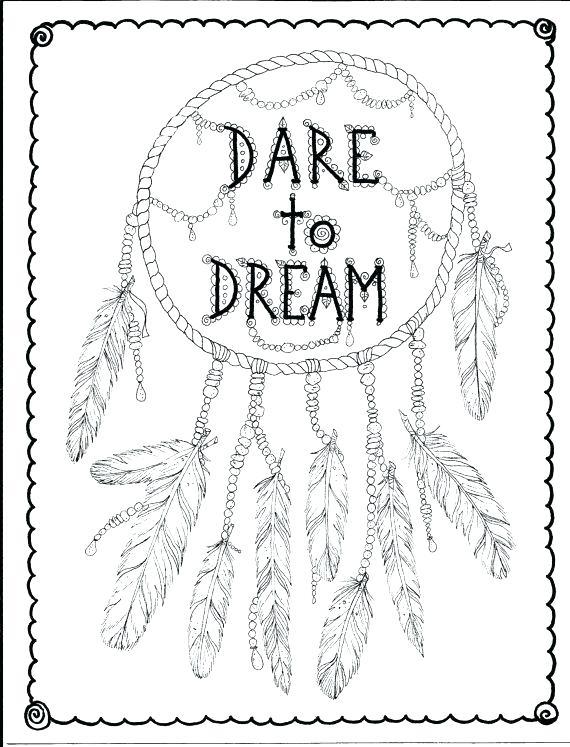 570x747 Dreamcatcher Coloring Pages Native Mandala Simple Dream Catcher