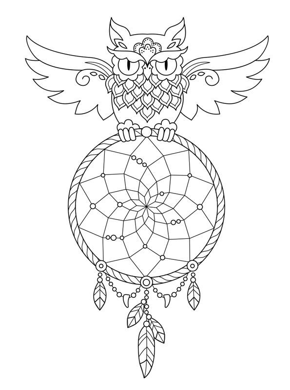 595x800 Kids N 16 Coloring Pages Of Dreamcatchers