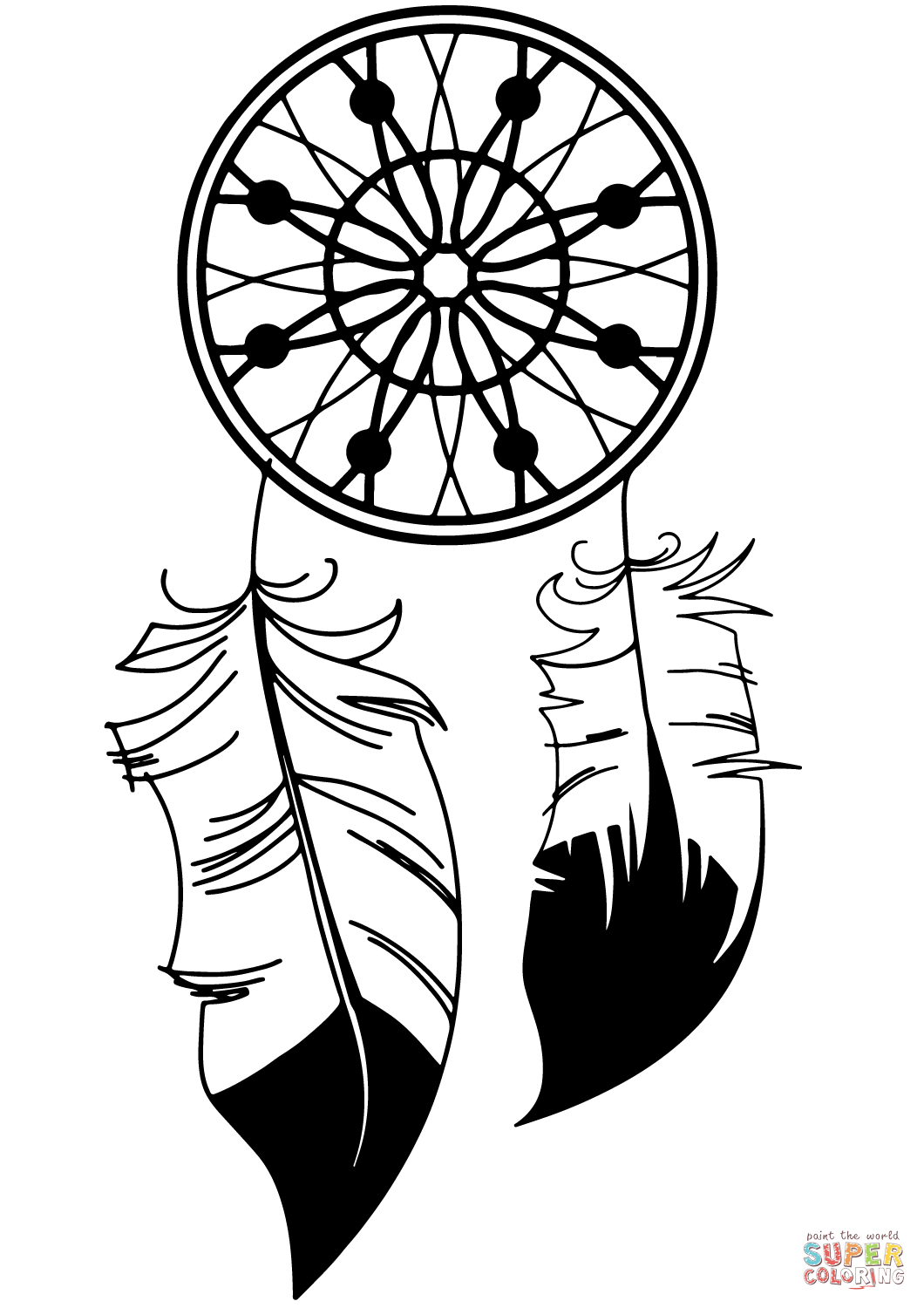 1060x1500 Dream Catcher Coloring Page Free Printable Coloring Pages