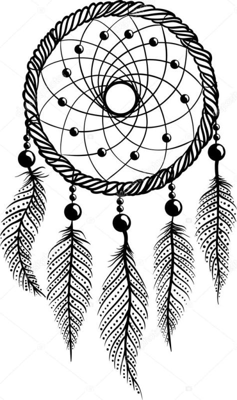 475x800 Dreamcatcher Clipart Black And White