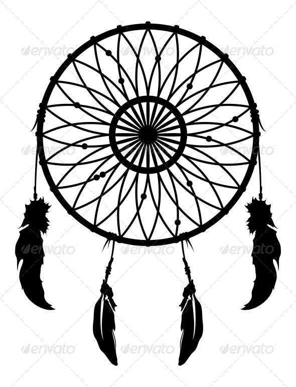590x771 Black And White Dreamcatcher Clipart