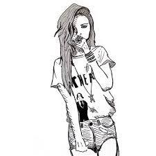 225x225 Gallery Fashion Tumblr Girl Sketch,