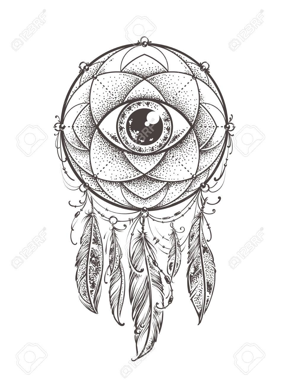 Search For Dreamcatcher Drawing At Getdrawings Com