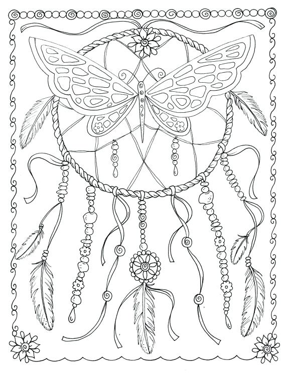 570x744 Dream Catcher Coloring Pages In Addition To Pin Drawn Coloring