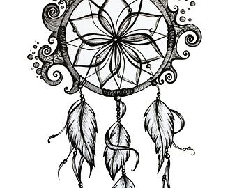 Dreamcatcher Pencil Drawing