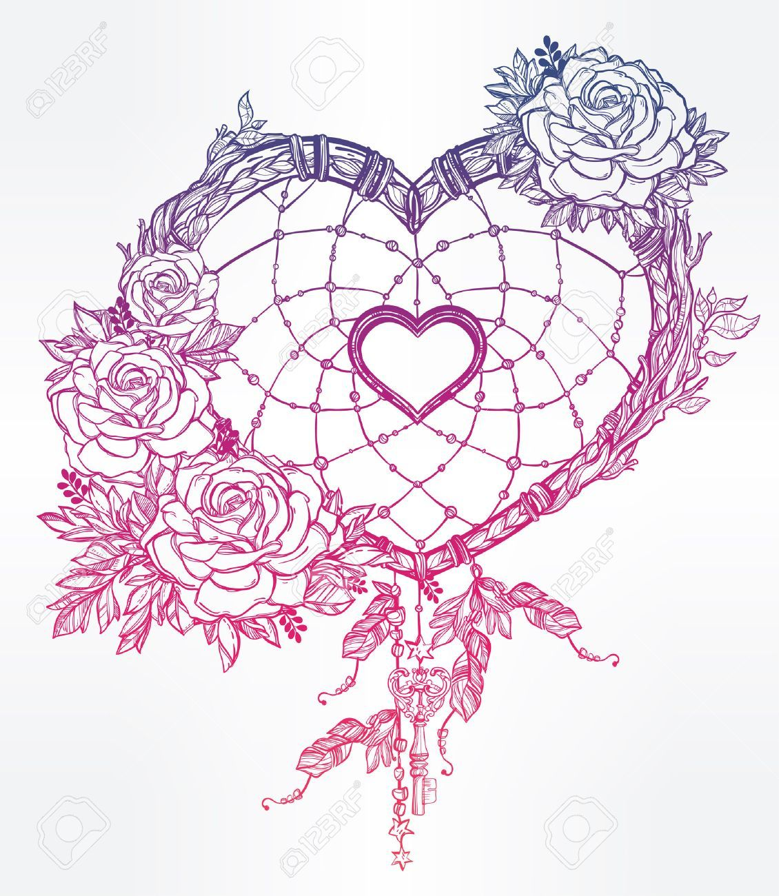 1130x1300 50928180 Hand Drawn Romantic Drawing Of A Heart Shaped Dream