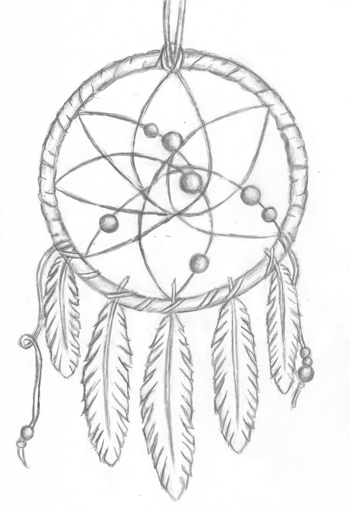 703x1024 Pencil Drawings Of Dreamcatchers 12 Pics Of Dream Catcher Indian
