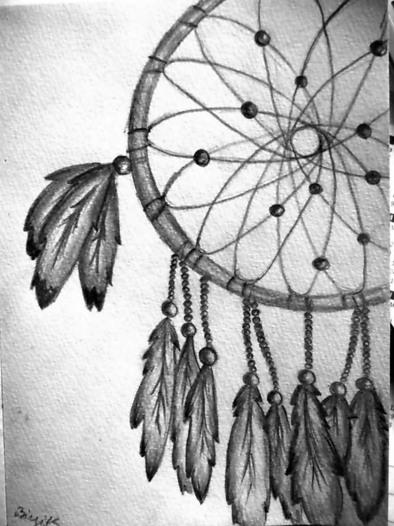 767x1024 Pencil Drawings Of Dreamcatchers Browsing Drawings