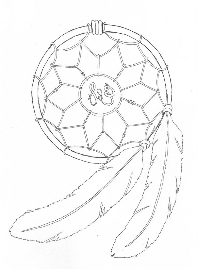 756x1024 Simple Dreamcatcher Drawing