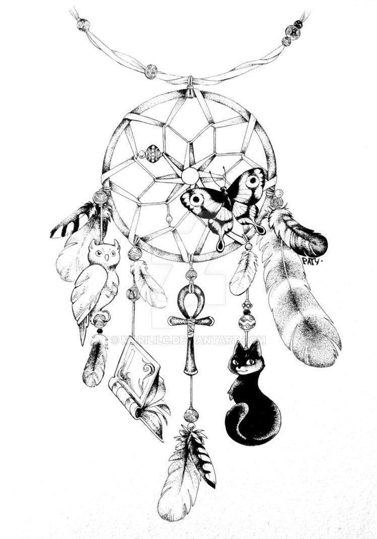 748x1069 Drawings Of Dreamcatchers