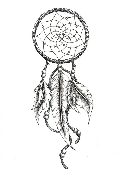 474x676 Dreamcatcher Tattoos With Birds Drawings