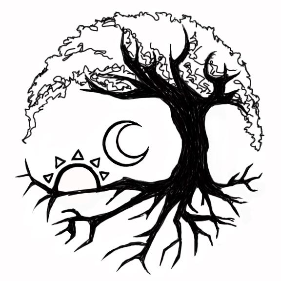 576x576 Collection Of Moon Goddess Dreamcatcher Tattoo Design